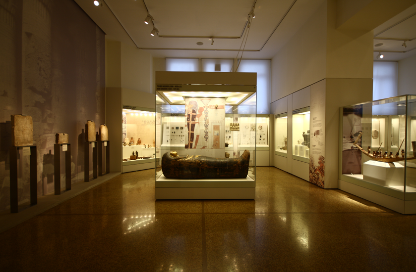 archaeological exhibit in the national museum