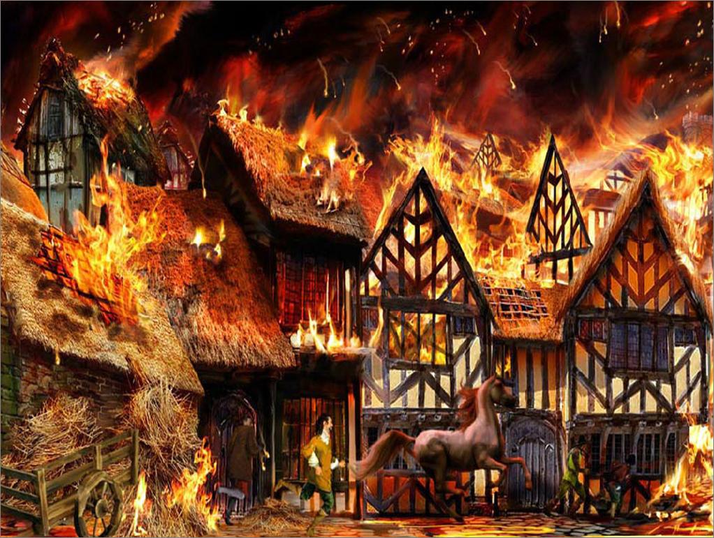 مستعظم النار من مستصغر الشرر مقولة في محلها تماما ففي عام 1666 شب حريق بسيط  في مخبز يملكه رجل بسيط في لندن وبسرعة رهيبة انتقل الحريق إلى منزل الرجل  الذي ...