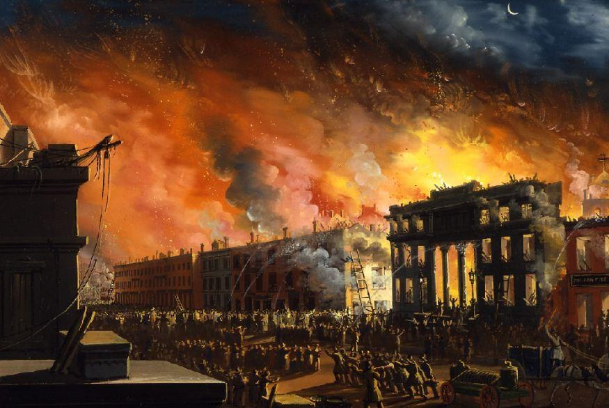 لا تتخيل بشاعة هذا الحريق الذي حدث بفعل فاعل ففي أثناء الحروب الثورية  بمدينة نيويورك عام 1776 فقد قام احد ضباط الجيش بإصدار قرار بحرق المدينة  بدلا من محاربة ...