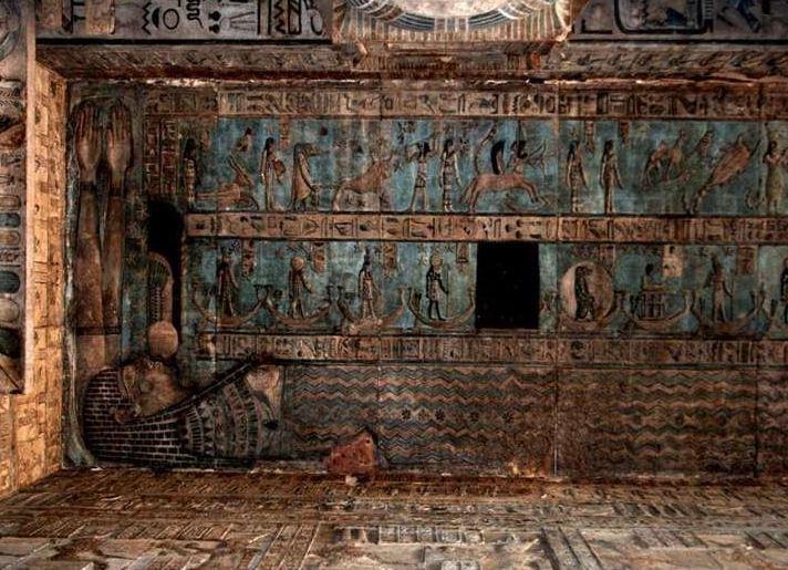 معبد دندرة بقنا.. رسومات لمصابيح كهربائية وبيوت ولادة توصل للعالم الآخر